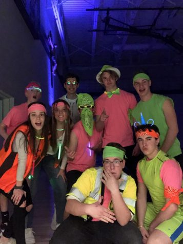 Neon themed Sadie Hawkins Dance of 2020